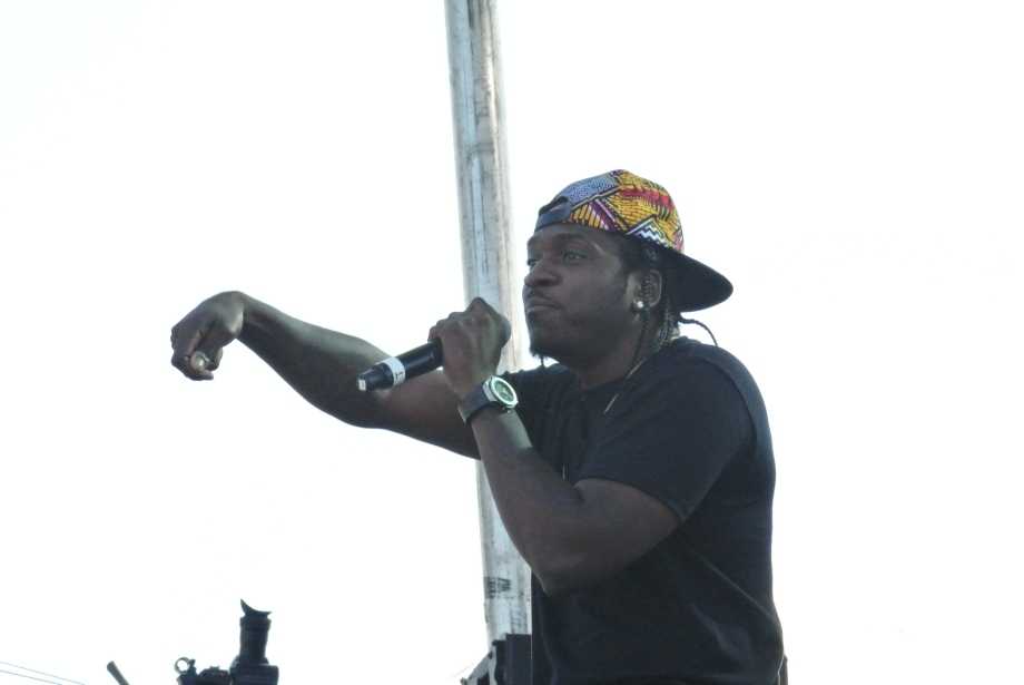 Pusha T performing on the 36 Chambers Stage
